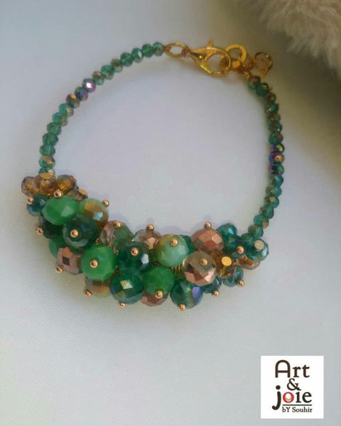 Image de Bracelet en perles vert