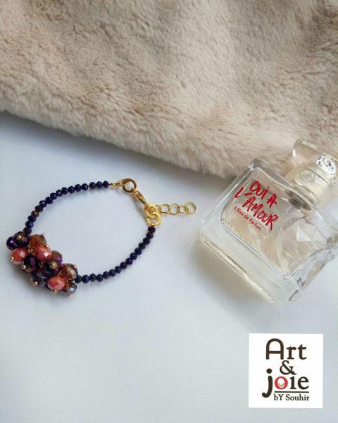 Image de Bracelet en perles violet