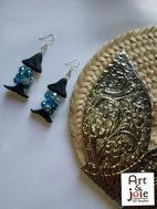 Image de Boucles d'oreilles houta ambre