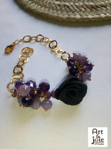 Image de Bracelet fleur ambre