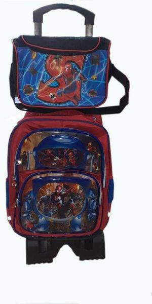 Image de Sac à dos scolaire avec sacoche Spiderman