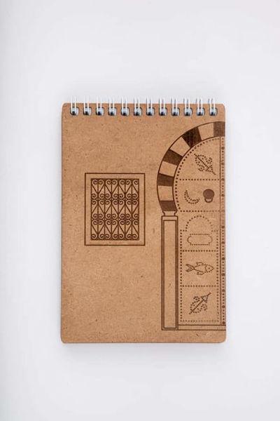 Image de Bloc notes en bois Format A6