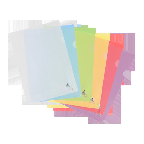 Image de Lot de 10 pochettes coin en polypropylène translucide COLORSPLIT