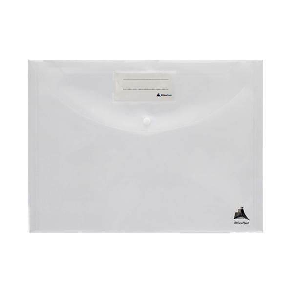 Image de Pochette à bouton COLORPROTECT en polypropylène translucide 24×32 MAXI