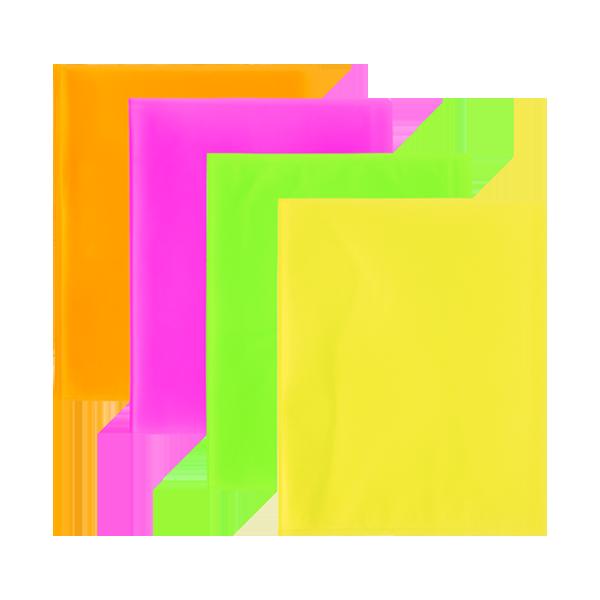 Image de Protège-documents en polypropylène translucide fluo-60 vues