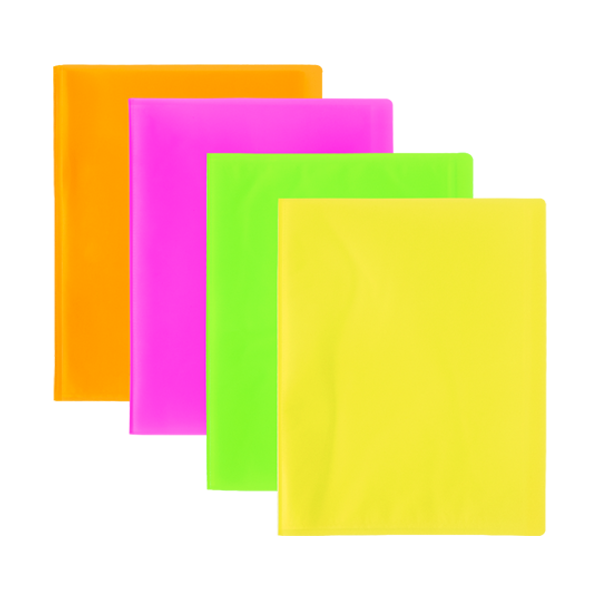 Image de Protège-documents en polypropylène translucide fluo-40 vues