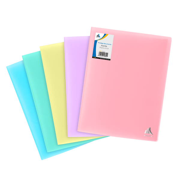 Image de Protège-documents en polypropylène opaque pastel-60 vues