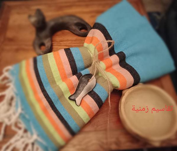 Image de Fouta tunisienne 2m*1m 100% coton