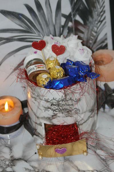 Image de Coffret chocolat et fleurs
