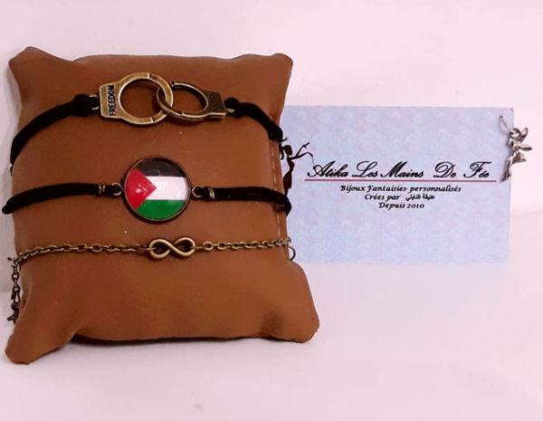 """Image de Lot de bracelets """"palestine#"""