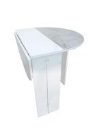 Image de Table pliable- 76*103* h 74cm - Blanc  - marbré