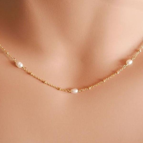Image de Collier boule avec perle plus cadeau
