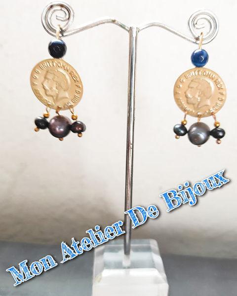 Image de Boucle d'oreille lira w perle