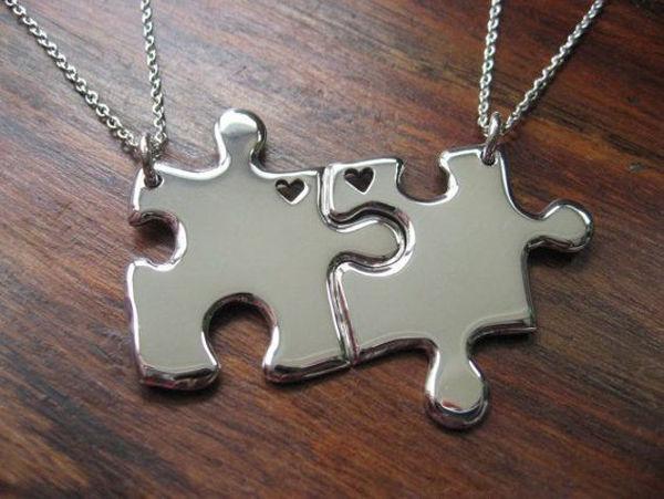 Image de Collier couple puzzle