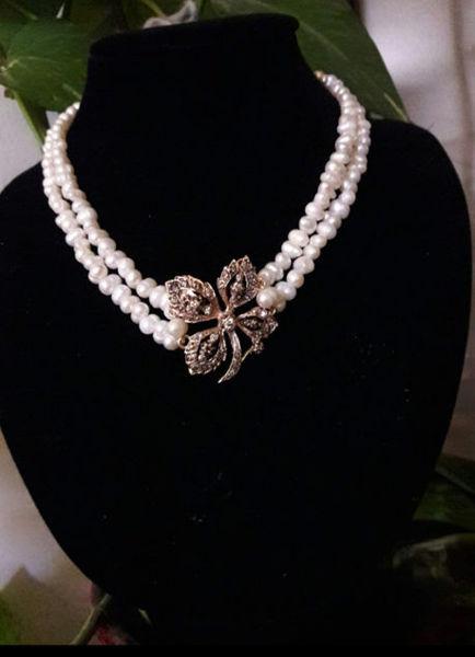 Image de Collier perles et argent