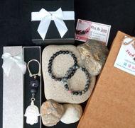 Image de Coffret bracelet en Pierre pour couple et bracelet en Ambre