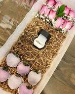 Image de Coffret box chocolats et fleurs