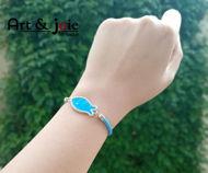 Image de Bracelet avec motif Houta en argent émaillé