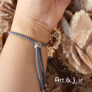 Image de Bracelet avec motif khomsa en argent émaillé