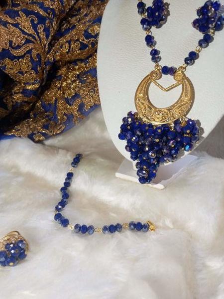 Image de Sirie cristal 4pièces bleu