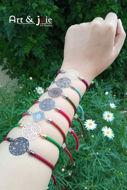 Image de Bracelet ajustable avec motif en acier inoxydable