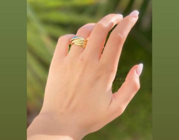 Image de Bague 10 anneaux en Argent doré