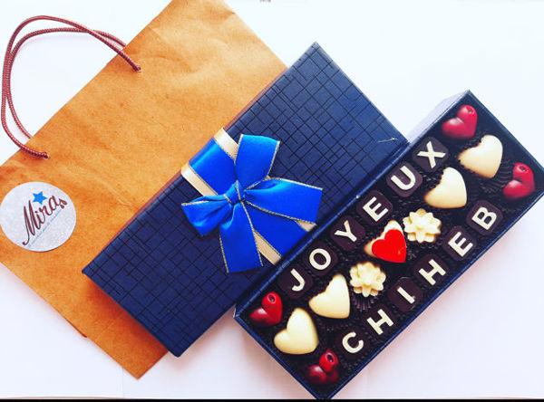 Image de Coffret chocolat pour anniversaire