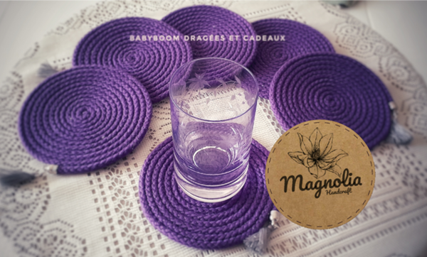 Image de Sous tasses violet