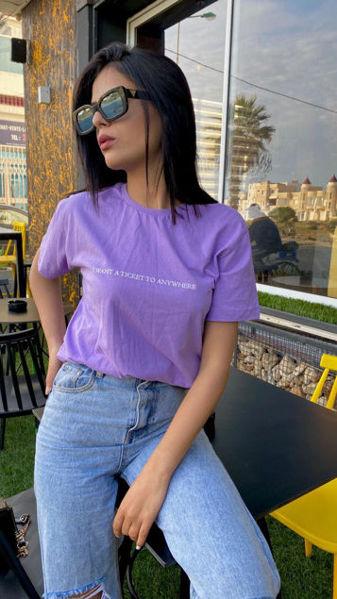 Image de T-shirt mauve