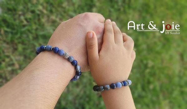 Image de Coffret special fete des peres bracelet en pierre naturelle