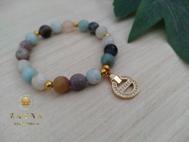 """Image de Bracelet """"Douceur"""" en pierre d'Amazonite"""