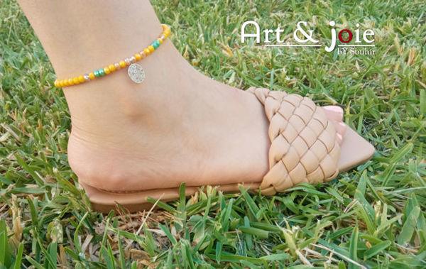 Image de Bracelet cheville avec motif en acier inoxydable