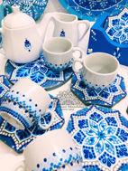 Image de Série café en bleu