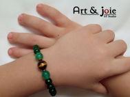 Image de Bracelet enfant en pierre œil de tigre et aventurine et agate