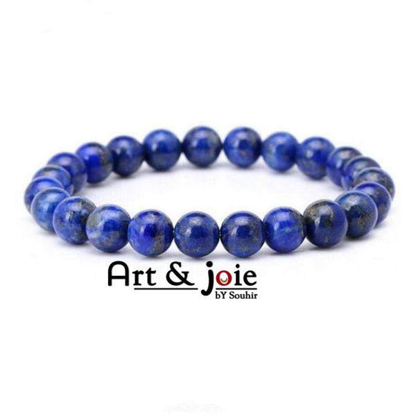 Image de Bracelet homme / femme en pierre lapis-lazuli