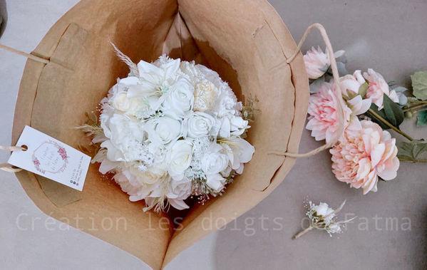 Image de Bouquet de fleur + Boutonnière gratuite