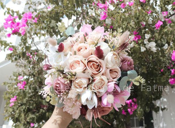 Image de Bouquet de fleurs + boutonnière cadeau